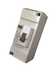 Enclosed RCD - 40 amp / 30mA Double Pole. Ideal for Shower / Garages
