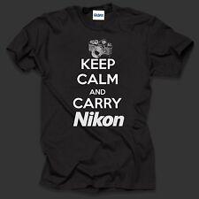 Keep Calm And Carry Nikon T Shirt Gift For Photographer T-Shirt Shirt Tee