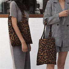 Fashion Women Leopard Print Handbag Shoulder Bag Large Capacity Tote Bag Wallet