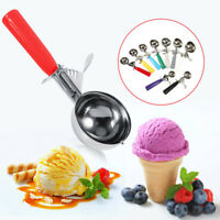 Stainless Steel Ice Cream Scoop Spoon Rubber Grip Handle Masher Cookie Scoop