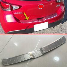 Steel Rear Bumper Sill Protector Trim For Mazda 2 Demio DJ DL 2015 2016 2017