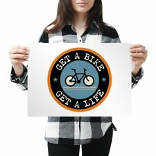 A3 - Get A Bike Mountainbike Biker Cycle Poster 42X29.7cm280gsm #5103