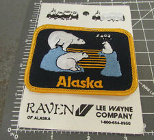Alaska, 3 polar bear on the ice, colorful iron on Embroidered Patch