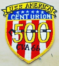 US UNITED STATES NAVY FLIGHT JACKET PATCH BADGE 500 LANDINGS USS AMERICA