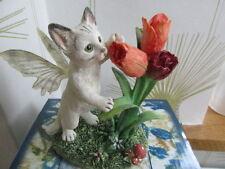 Cute Faerie  Glen Faerie Tails Fairy Cat Blossom Boxed Retired Figure