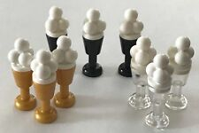 *NEW* 9 Pieces LEGO Minifig WHITE Ice Cream with BLACK CLEAR GOLD Goblet