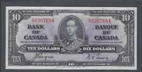 1937 (BC-24c) Bank of Canada Ten Dollars AU-50