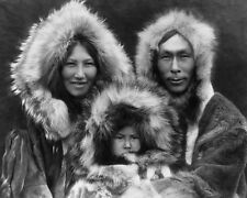 ESKIMO FAMILY PORTRAIT 8X10 PHOTO EDWARD S. CURTIS