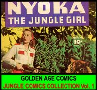 DVD NYOKA THE JUNGLE GIRL Golden Age COMIC BOOK LOT [1] Fantasy Action Adventure