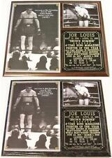 Joe Louis The Brown Bomber Boxing Hall of Fame Photo Plaque