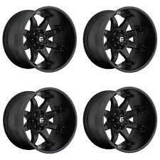 "Set 4 22"" Fuel Octane D509 Black Wheels 22x14 8x170 -76mm Lifted Truck Rims"
