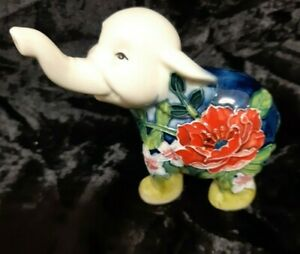 """Old Tupton Ware """"The Collection"""" Hand Painted Elephant 4 Inches"""