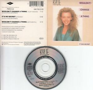 Kylie Minogue  CD-SINGLE  WOULDN'T CHANGE A THING    ( 3inch )