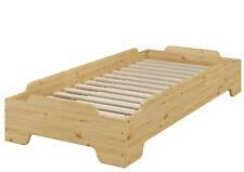 Stapelbares Kinderbett kompakt 80x190 Massivholz Kiefer + Rollrost 60.56-08-190