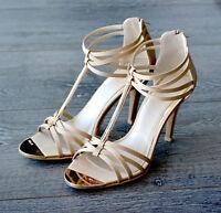 *BRAND NEW* Strappy Satin Heels Gold Size 7 / EU38