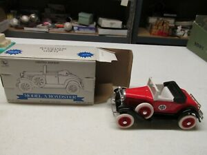 WHITE ROSE GASOLINE MODEL A ROADSTER BANK WITH KEY AND BOX