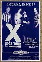 X Band POSTER 31st Anniversary JOHN DOE / EXENE / BONEBRAKE Oregon 2008 Concert