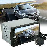 """7"""" 1080P Touch Screen 2DIN Car Stereo MP5 Player SD Bluetooth Radio+ Rear Camera"""