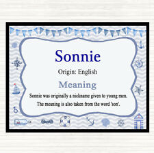 Sonnie Name Meaning Mouse Mat Pad Nautical