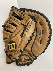 "Wilson A730 12-1/2"" RHT Baseball Catcher's Mitt A0370 BM with ECCO Leather"