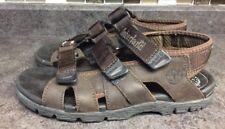 Timberland Mens Brown Leather 3 Strap Fisherman  Sandal 67012 US 8M