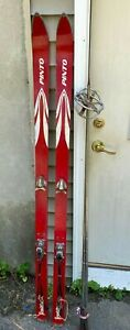 Vintage Snow Skis  with Poles - 64 Inches