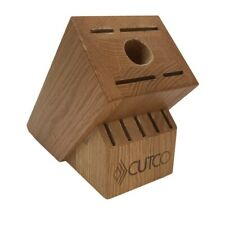 Cutco Honey Oak 10 Slot Counter Top Knife Cutlery Block Made In Usa