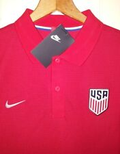 NEW Nike Team USA Soccer Jersey Polo Shirt Men's Large Red