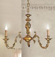 Lampadario classico 3 luci in ottone oro francese coll. Dese 7200/3