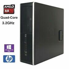 HP 6305 SFF Desktop Computer AMD Quad-Core A8 3.2GHz 8GB 500GB Windows 10 Pro