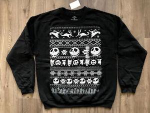 NIGHTMARE BEFORE CHRISTMAS SWEATSHIRT - KNIT CHRISTMAS SWEATER - NEW W/ TAGS!!