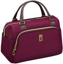 "London Fog Coventry 17"" Cabin Bag Carry On Luggage Handbag Purse - Plum"