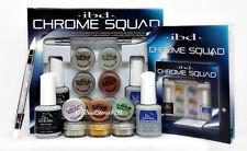 IBD Chrome Effect Powders - CHROME SQUAD KIT 6 Colors, Gel Top, Tool, etc