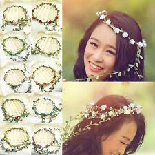 Lots Women Chic Bridal Flowers Wedding Head Wreath Crown Headband Beach Travel