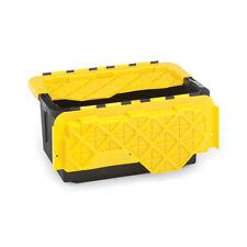 15-Gallon Tough Tote Heavy Duty Storage Container Plastic Box Organizer Set of 6