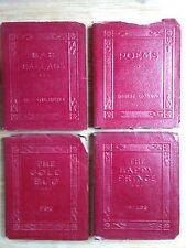 Browning + Authors Mini Books Lot (4) Classics Red Little Leather 1920s #14