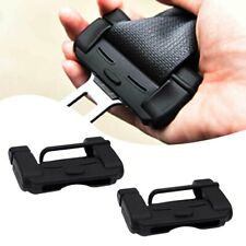 2pcs Black Car Safety Seat Belt Adjuster Buckle Anti-Scratch TPU Protective Case