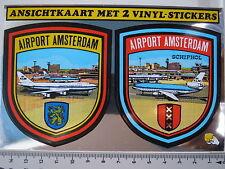 Aufkleber Sticker Metallfolie Vinyl - Airport Amsterdam Schiphol - Holland(1899)