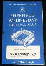 Sheffield Wednesday v Southampton    11-2-1967