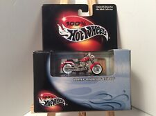 Hot Wheels 100% Collectible Limited Edition Harley Davidson Fatboy acrylic case