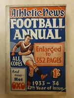 ATHLETIC NEWS FOOTBALL ANNUAL 1933-34  47th year of Issue Edited by Ivan Sharpe