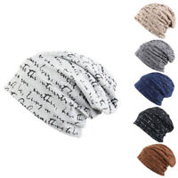 Men Women Jersey Beanie Hat Lightweight Thin Slouch Cap Summer Festival Unisex