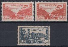 Libanon Lebanon 1947 ** Mi.364,366,369 Freimarken Definitives Bucht [st1734]