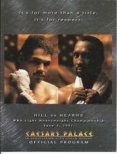 Thomas Hearns Virgil Hill   On Site Boxing Program June 3, 1991