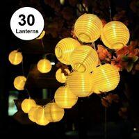 Solar Lichterkette Lampe Außen 6 Meter 30 LED Laternen Wasserdicht  Party Deko