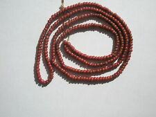 Antique Venetian Pink White Heart sm Pony Trade Beads - 3.5mm - Str