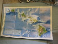 REDISCOVERING HAWAII MAP September 1995 National Geographic MINT