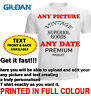 Personalised T-shirt Custom Part 18th 21st 40th 50th Your Image Printed Text DTG