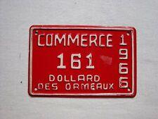 1966 Dollard des Ormeaux COMMERCE License Plate # 161