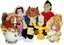 Beauty & the Beast Plush Belle Gaston Phillipe Potts Chip Lumiere Cogsworth Fifi